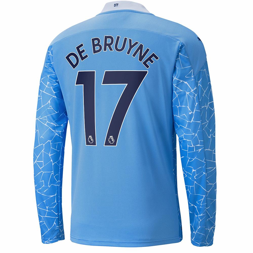Herren Fußball Kevin De Bruyne #17 Heimtrikot Blau Trikot ...