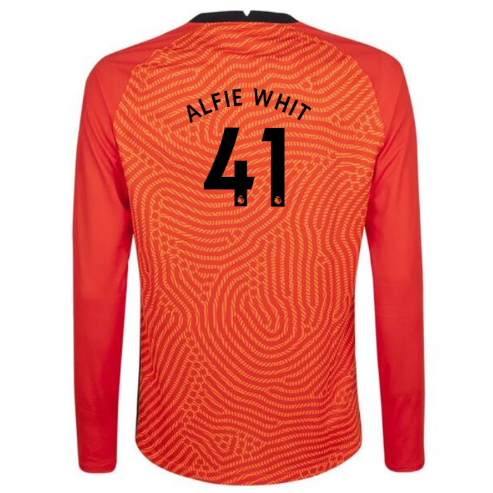 Damen Fußball Alfie Whiteman #41 Heimtrikot Orange Goalkeeper Shirt 2020/21 Hemd