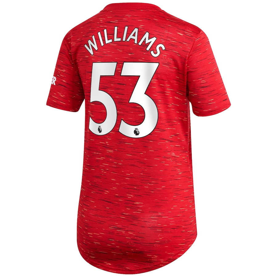 Damen Fußball Brandon Williams #53 Heimtrikot Rot Trikot 2020/21 Hemd